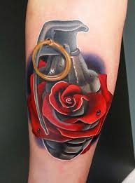 realistic rose tattoo design by andres acosta design of