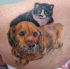 best tattoos design dog and cat tattoos designs