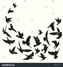 flying birds silhouette vector background stock vector 585342953