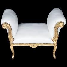Design Esszimmer Bank Sitzbank Esszimmer Antikes Barock Design Weiß Gold Edel