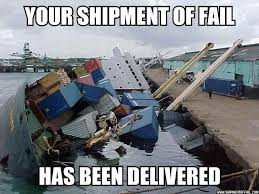 Fail Meme - literally a shipment of fail dot com how not to monetise a popular