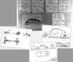 ferdinand porsche beetle bilbobug boceto 19331934 vespa y caravan pinterest drawings