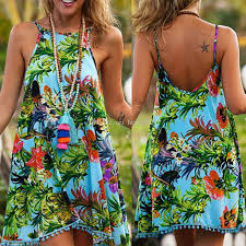 suspender one piece maxi dress bohemian harness belt print dress