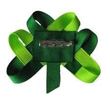 shamrock ribbon woven shamrock hair clip lapel pin st patricks day