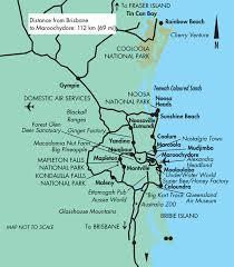 aussie map coast and hinterland map queensland australia