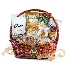 gourmet gift baskets classic gourmet coffee gift basket omar coffee