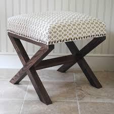 brilliant x bench ottoman safavieh x bench nailhead brown white