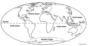 map of the earth coloring page oceans of the world map coloring