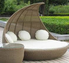 nice patio daybed with canopy furniture comfortable round wicker