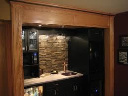 kitchen stone backsplash ideas with dark cabinets library closet