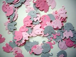 Elephant Decorations 100 Elephant Punches Paper Elephants Pink Elephants Baby