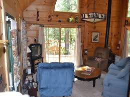 Interior Log Homes Peaceful Log Cabin Tucked In The Woods Homeaway Grayling