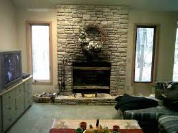 faux stone fireplace mantel shelves pictures remodel fake creative