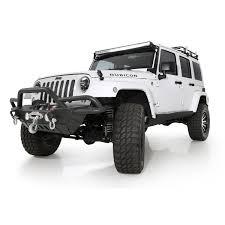 jeep rubicon black smittybilt src gen2 front bumper in black textured jeep wrangler
