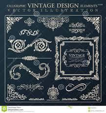 site deco vintage vintage design elements corners and borders stock vector image