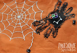 halloween treat bag craft handprint spider trick or treat bags kids craft awesome with