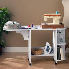 how to make a drop in sewing table southern enterprises white sewing table oc9665t the home depot