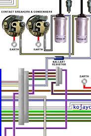 norton commando mk3 large colour laminated wiring diagram