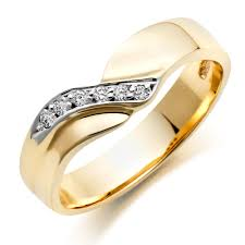 wedding ring image 9ct gold diamond wedding ring 0004983 beaverbrooks the jewellers