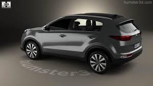 kia sportage black 360 view of kia sportage 2016 3d model hum3d store