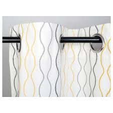 Yellow Gray Curtains Henny Rand Curtains 1 Pair White Gray Yellow Ikea