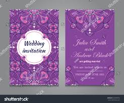 wedding invitation vintage ornamental style vector stock vector