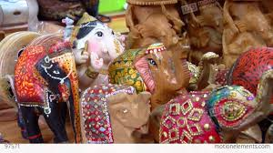 indian elephant figurines stock video footage 97571