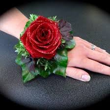 Red Rose Wrist Corsage Wrist Corsages Design Element Flowers Manchester