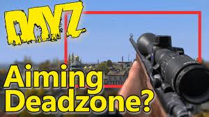 pubg deadzone dayz what is the aiming deadzone youtube