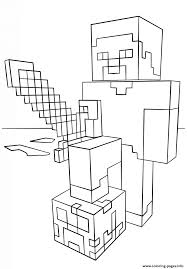 coloring pages of minecraft online children minecraft color pages