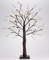 24 led birch tabletop tree only at macy s