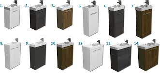 Cloakroom Vanity Sink Units Only 169 99 Evora Gloss White Or Walnut Bathroom Vanity Unit