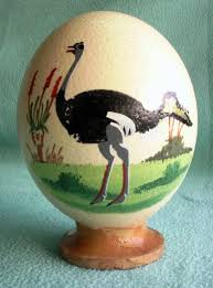 ostrich egg painted south porcelain painted ostrich egg was sold for r80 00