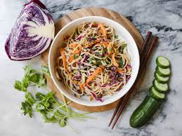 cold salads cold soba noodle salad with peanut sauce vegan from my bowl