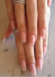 natural pink round nails heart nails pinterest round nails