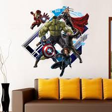 super hero the avengers wall stickers boys room cosmic fan super hero the avengers wall stickers boys room cosmic fan wallpaper poster decoration art captain america hulk iron man pvc print graphic wall stickers for