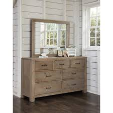 Bedroom Dressers With Mirrors 7 Drawer Dresser Mirror Highlands Collection Ne