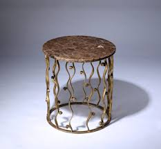 Iron Side Table Wrought Iron Italian Side Table With Marble Top In