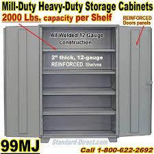 heavy duty steel storage cabinets extra heavy duty steel storage cabinets 99mj