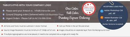 Custom Table Cloths by Square Tables Printed Custom Tablecloths Logo Tablecloths