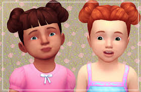 childs hairstyles sims 4 the sims 4 toddler female hair tumblr