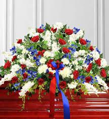 how to make a casket spray white blue sympathy casket spray avas flowers