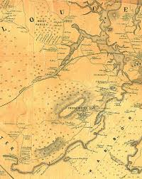 Map Of Maine Towns Fitz Henry Lane Historical Materials