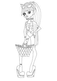 free printable monster high coloring pages frankie stein swim