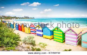 beach hut at st kilda melbourne australia stock photo royalty