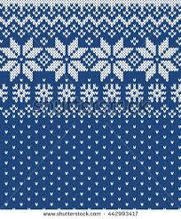 winter sweater design fairisle seamless knitting stock vector
