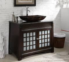 Vessel Sink Cabinet Height Exquisite Bathroom Vanity With Vessel Sink Height Using Black