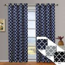 Moroccan Print Curtain Panels by Amazon Com Meridian Gray Grommet Room Darkening Window Curtain