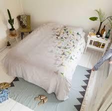 snurk bed linen u0027butterfly u0027 in cotton white in 3 sizes