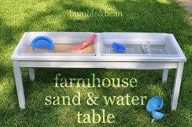sand and water table with lid bumble bean diy farmhouse sand and water table